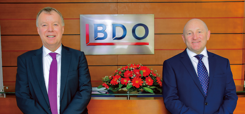 Martin van Roekel (right), chief executive of BDO Partners, and Stephen Darley, BDO's Asia Pacific head, are excited about prospects for growth in Sri Lanka