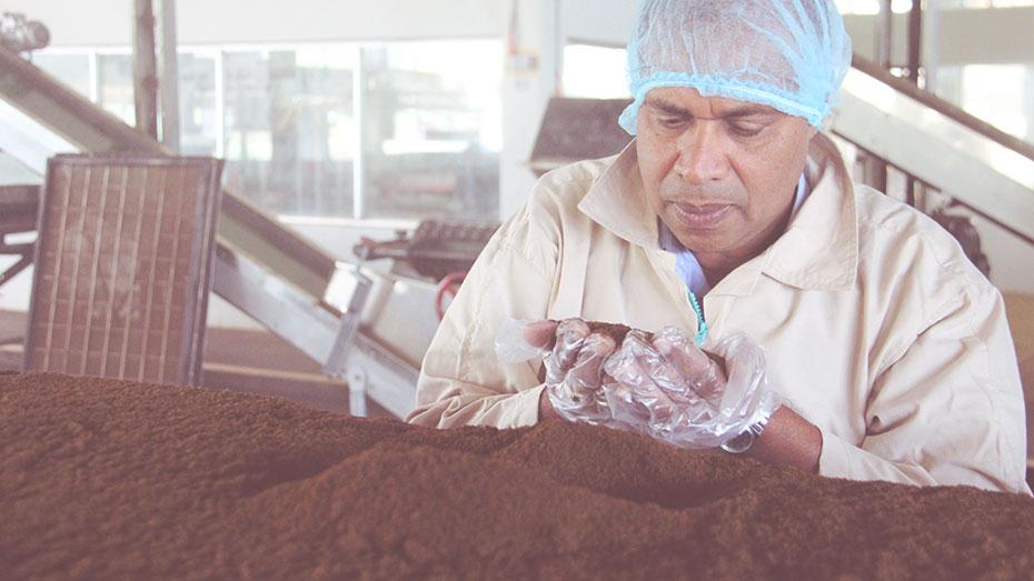 Muthukarupan Paramasivam, senior executive at Waltrim Factory.