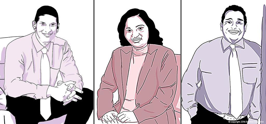 From left: Sumith Perera, Head of Portfolio Management, Guardian Acuity Asset Management, Kanchana Karannagoda, Fund Manager, Ceybank Asset Management Limited and Ramesh Schaffter, Director, Janashakthi Insurance